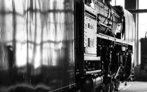 Seitenblick auf Schnellzuglokomotive 01 150