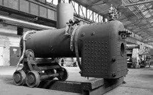 Alter Dampfkessel im Werk