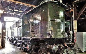 Im Lokschuppen des DB Museums Halle   Güterzuglokomotive E95 02