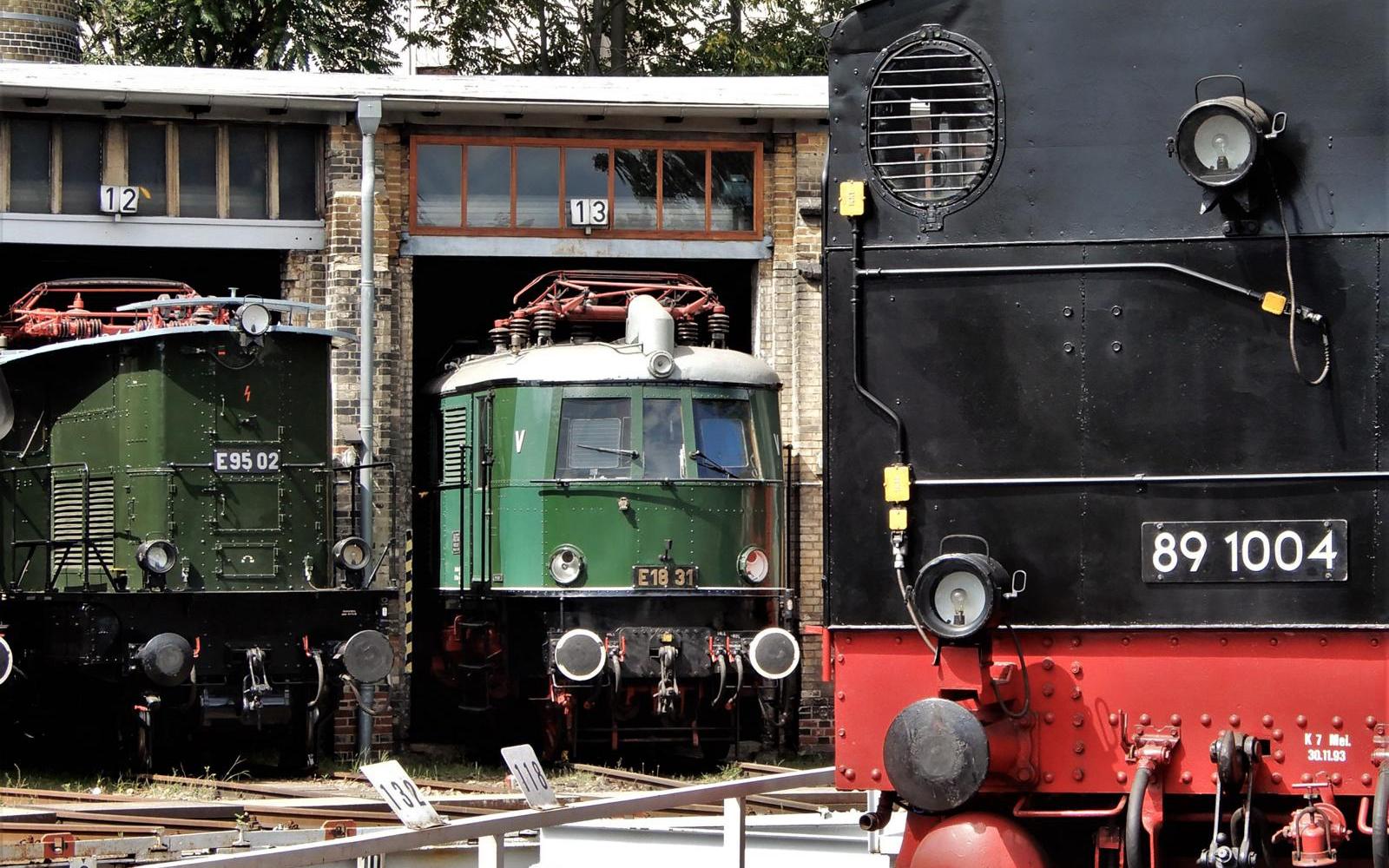 ©Foto: Christian Wodzinski | railmen | Blick in den Lokschuppen des DB Museums Halle