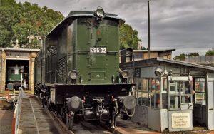 Güterzuglokomotive E95 02   BJ 1927   Auf der Drehscheibe vom DB Museum Halle