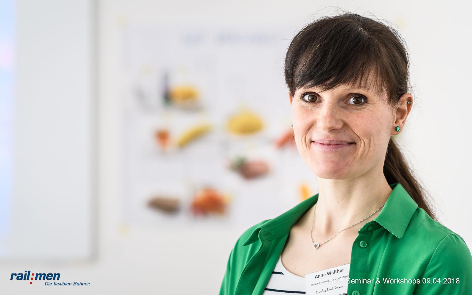 © Foto: Eric Kemnitz   Railmen BGF Workshop 1   Dipl. Ernährungswissenschaftlerin Anne Walther