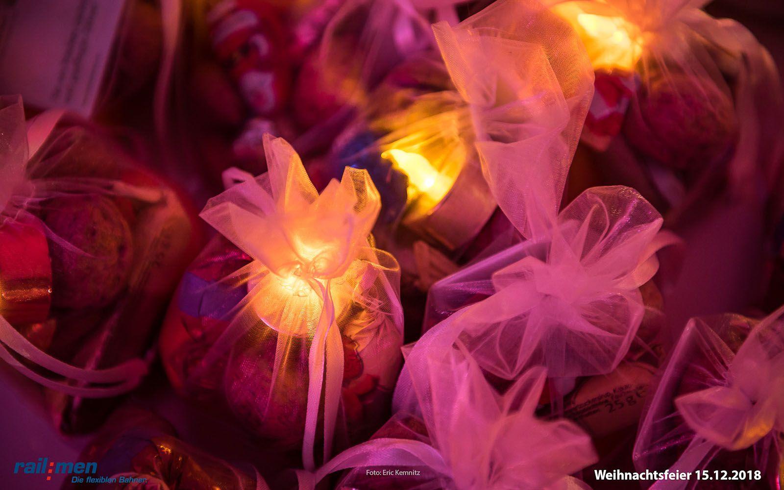 Illuminierte Geschenksäckchen für die Railmen Mitarbeiter