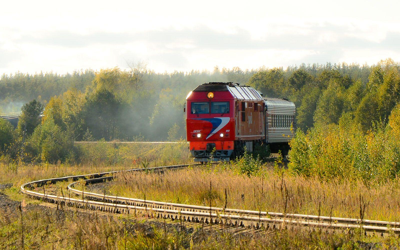 ©Foto: railmen Steffen Mann | TEM70BS-093 mit Zugpaar auf kurviger Strecke