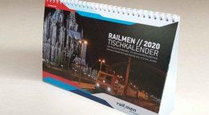 Titelblatt des Railmenkalenders 2020