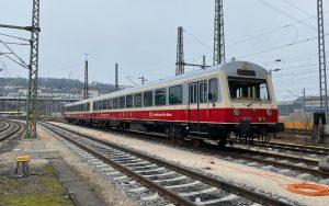 Schwäbische Alb-Bahn auf dem HBF Ulm