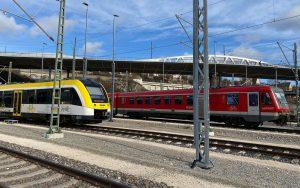 Personenzüge auf dem HBF Ulm