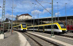 SWEG Züge auf den Gleisen des HBF Ulm