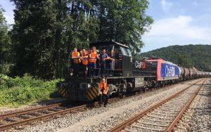 ©Foto: Railmen-Lokführer: Daniel Hennig   Team Karlsruhe der SBB Cargo Deutschland   Der 1. Umleitungszug der SBB Cargo Richtung Singen als die Rheintalbahn auf Grund des Einsturzes des Rastatter Tunnels gesperrt war.