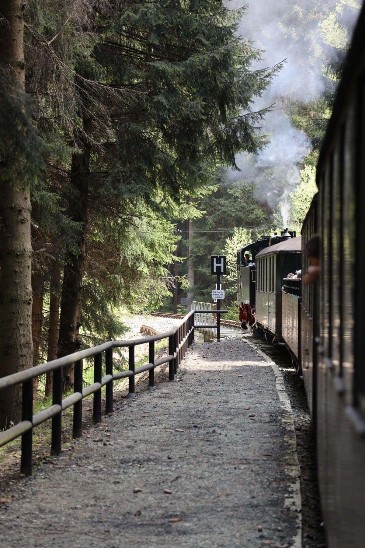 ©Foto: Christian Wodzinski | railmen | Haltepunkt A.-Gegentrum-Stolln – das einzige Schaubergwerk im Erzgebirge mit Schmalspurbahnanschluss