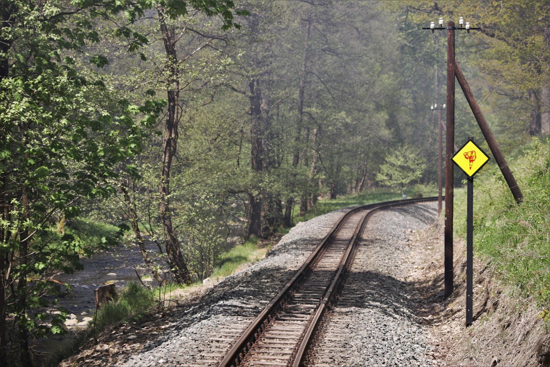 ©Foto: Christian Wodzinski | railmen | Nicht feuern! Aschkasten schließen! – fordert die Brandfackeltafel das Lokomotivpersonal auf.