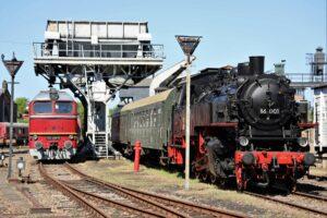 Tenderlokomotive 86 001 von 1928 – einst im Erzgebirge auf Nebenstrecken im Einsatz und heute rollfähiges Exponat im Sächsischen Eisenbahnmuseum Chemnitz-Hilbersdorf