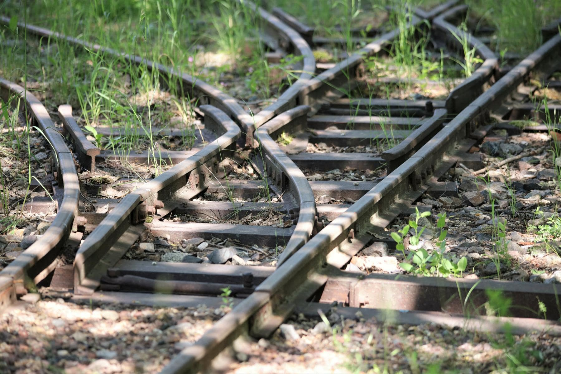 ©Foto: Christian Wodzinski | railmen | Einfache Weichen der Feldbahn