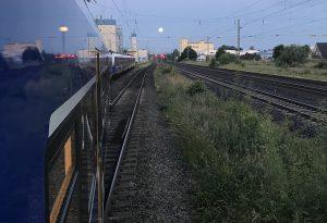 Abstellung am Bahnhof Twistringen bei Vollmond