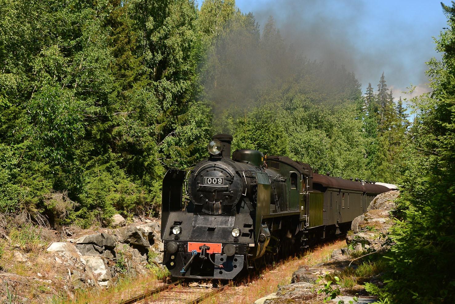 ©Foto: Steffen Mann | railmen | Finnland 2019 | Dampflok Hr1 1009, finnische Lokfabrik Lokomotive 158/BJ 1948 mit der Achsfolge 2´C1´ (Pazifik Schnellzuglok) auf der Strecke Lahti-Loviisa