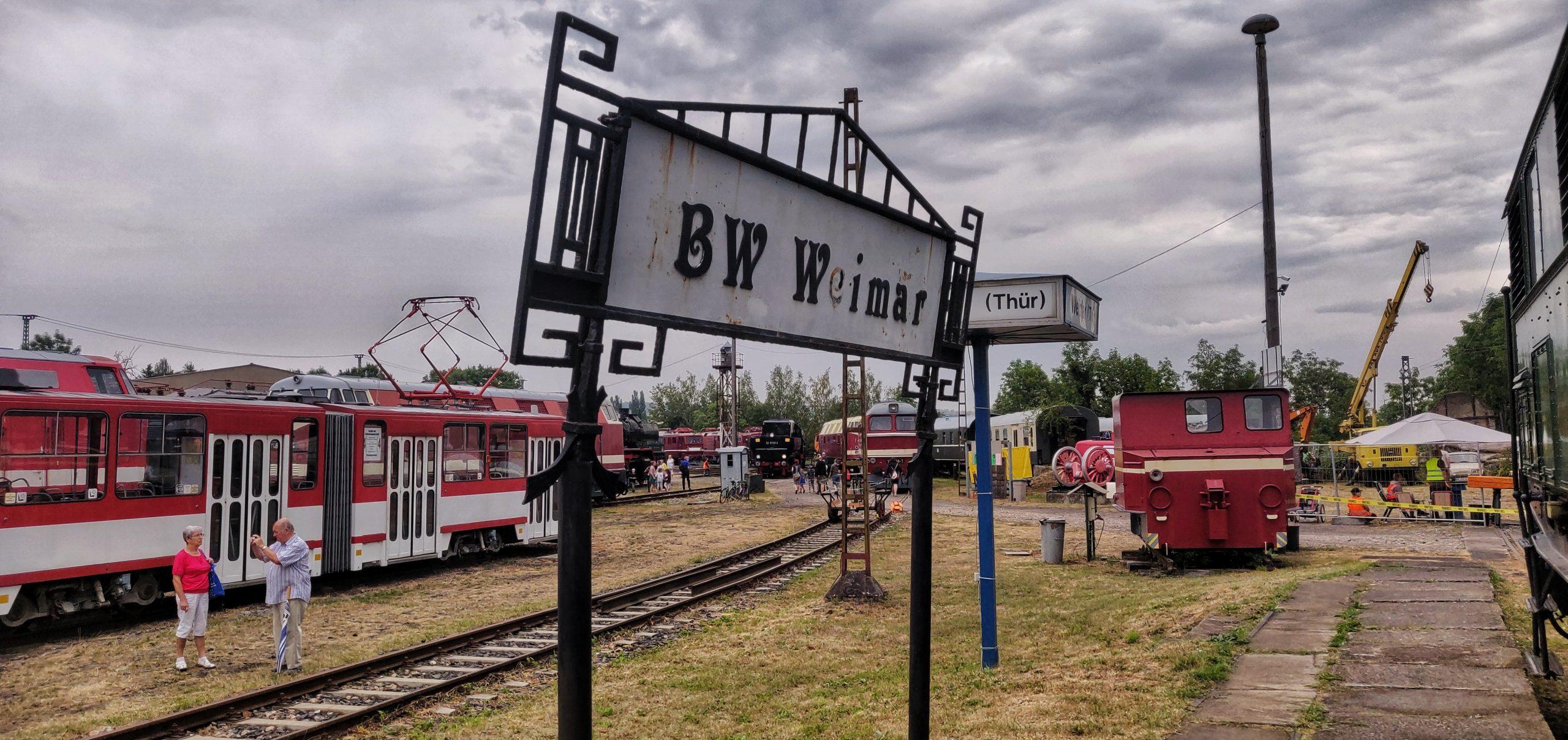 ©Foto: Christian Wörpel | railmen | Eingang vom Eisenbahnmuseum Weimar
