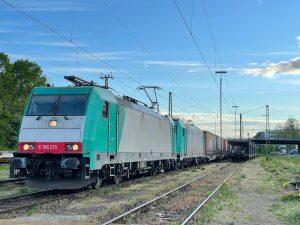 ©Foto: Oliver Külper | railmen | MIT EINER 185 IM SCHLEPP NACH AACHEN | Unterwegs für Railtraxx von Karlsruhe nach Aachen West, Baureihe 186
